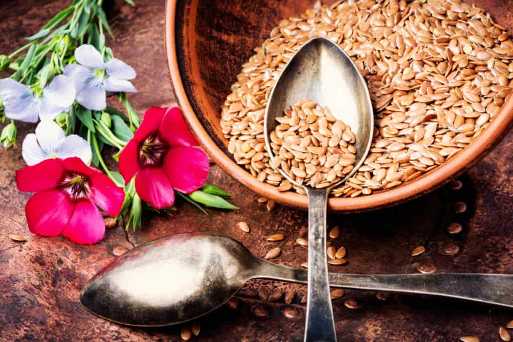 YayImages_BenefitsOfFlaxMicrogreens_brown-flax-seeds