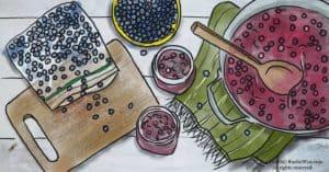 RusticWise_CanningFrozenBlueberries