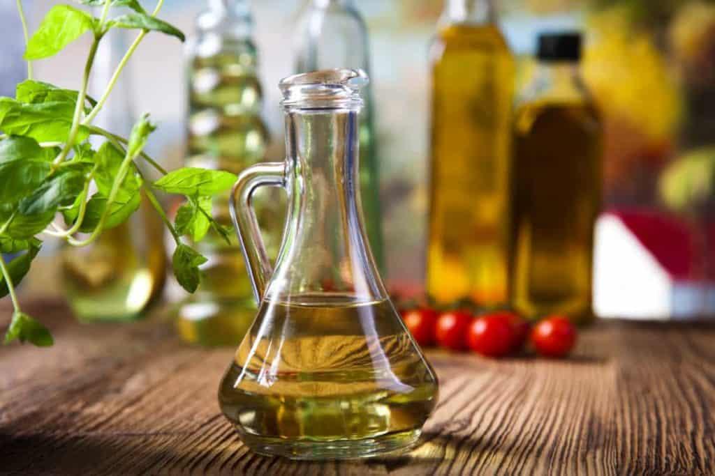 YayImages_CanYouCompostVegetableOil_olive-oils-in-bottles-mediterranean-rural-theme